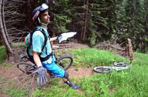 Mountain biker lost